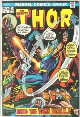 The Mighty Thor Comic Book #214 Marvel Comics 1973 FINE+