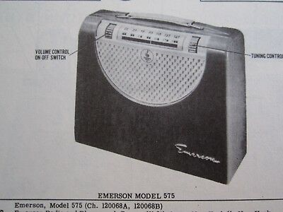 Emerson 575 Portable Radio Photofact