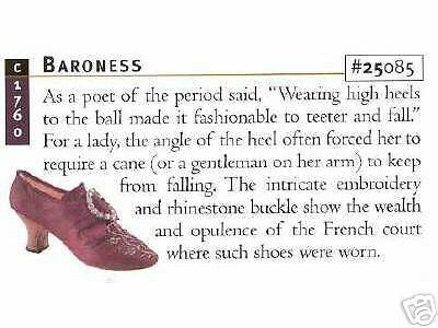 Just The Right Shoe, BARONESS, Retired
