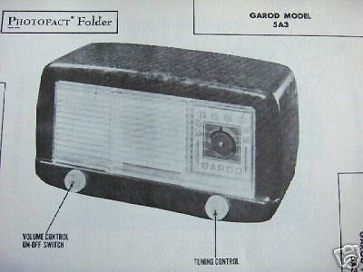 Garod 5A3 Radio Photofact