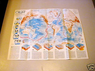 1986 National Geographic Earth's Dynamic Crust Map
