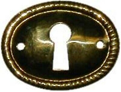 Repair Parts Stamped Brass  Key Hole Cover B0249