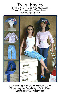 Basics Doll Clothes Sewing Pattern for Tyler Wentworth,  Tonner