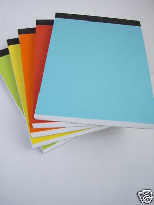 Plain White Paper Memo Pads A5 Size Pack Of 10 With Bright Covers