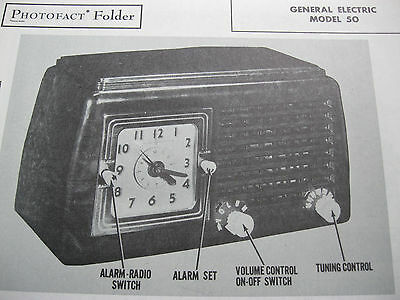 General Electric 50 Radio Photofact