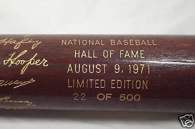 1971 Cooperstown HOF Induction Day Bat 22/500