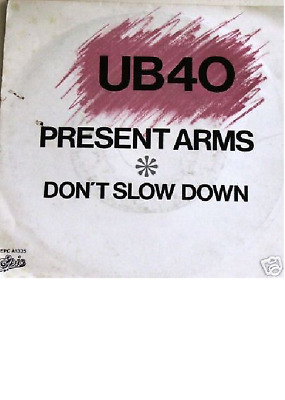 "7"" 1980 RARE GOLD ! UB 40 --> Present Arms ** MINT-  **"
