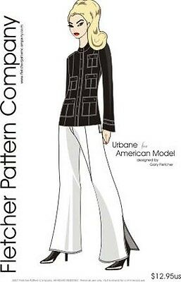 Urbane Doll Clothes Sewing Pattern for American Model Tonner