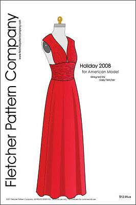 Holiday 2008 Doll Clothes Sewing Pattern American Model Tonner