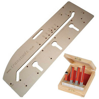 "Kitchen Worktop Router Jig Joint Guide 900mm 1/2"" Cutters Aligning Guide Pins"