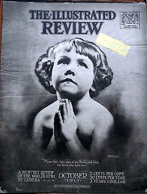 Oct 1917 Illustrated Review Mag- WW 1 Photos/News