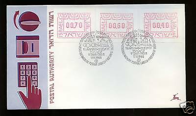 Israel 1988 Postage Labels FDC