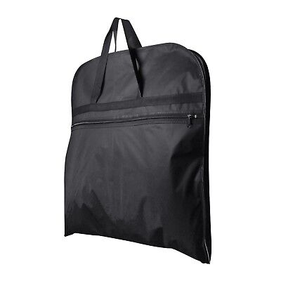 "10 Black Suit Covers Carry Bags Clothes Travel Storage Protector 44"" Hangerworld"