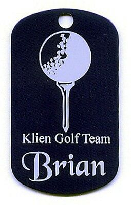Personalized Golf Bag Tag, ID Tag, Dog Tag, 10 colors