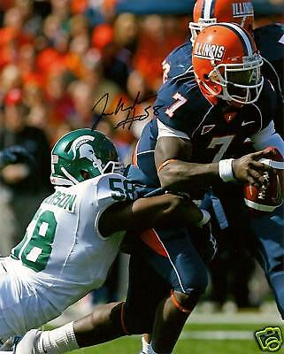 Trevor Anderson signed football photo Michigan State