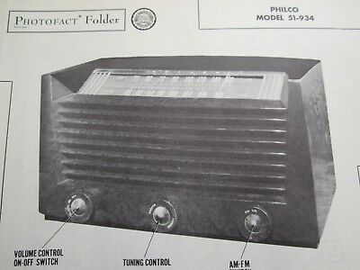 Philco 51-934 Radio Photofact