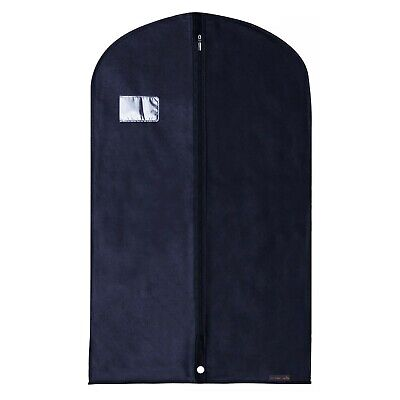 "5 Blue Breathable Suit Covers Garment Clothes Protector Bags 40"" Hangerworld"