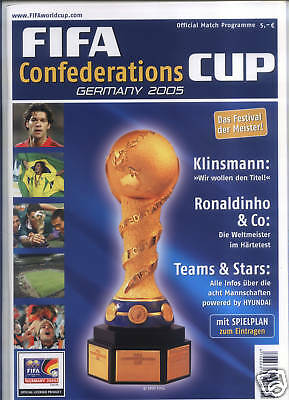 FIFA Confederations CUP 2005 Official Programme German