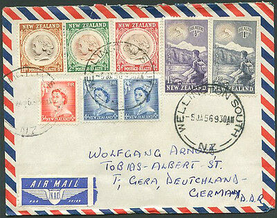 NEW ZEALAND TO GERMANY Old Air Mail Cover VF