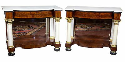 SWC-Pair of Classical Pier Tables, c. 1830, New York
