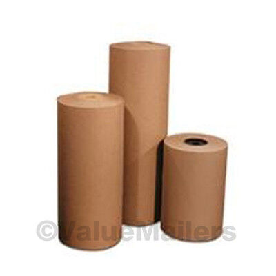 """12"""" 30 lbs 1320' Brown Kraft Paper Roll Shipping Wrapping Cushioning Void Fill"""