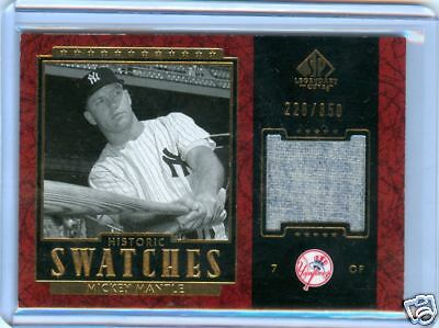 Mickey Mantle 2003 Sp Legendary Cuts Pants Relic #/350 Yankees