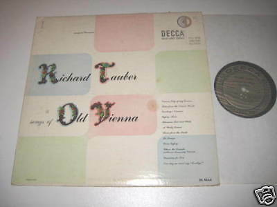 LP/RICHARD TAUBER songs of OLD VIENNA/decca gold label