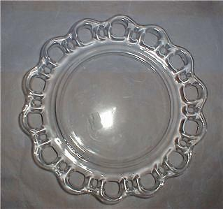 "Depression Glass~Old Colony Lace~8.25"" Luncheon Plate"