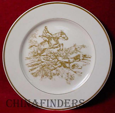 FITZ & FLOYD china THE HUNT Jump Fence 4 DINNER PLATE