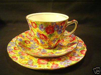 """LOVELY 3 pc. ROYAL WINTON """"ROYALTY"""" TEA FOR ONE SET"""