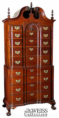SWC-Chippendale Block Front Chest-on-Chest