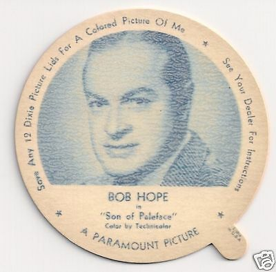 """1952 Dixie Lid - Bob Hope in """"Son of Paleface"""""""
