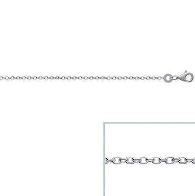 CHAINE ARGENT maille forcat FINE 50 cm 1mm NEUF