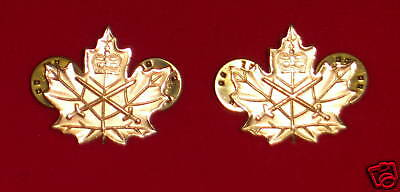 CANADIAN MILITARY CADET  COLLAR BADGES - ARMY