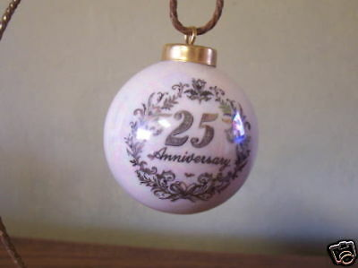 Personalized 25th or 50th Anniversary Ornament Keepsake