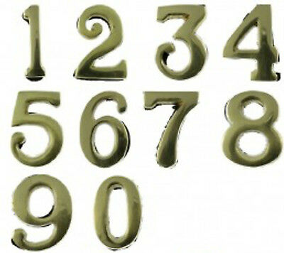 Small Solid Brass Stick on Numbers