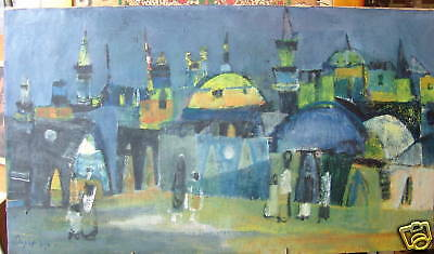 Jewish Judaica Meir Steingold oil painting,signed