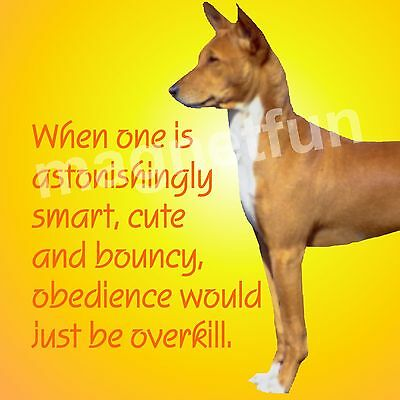 BASENJI DOG OBEDIENCE OVERKILL Fridge Magnet