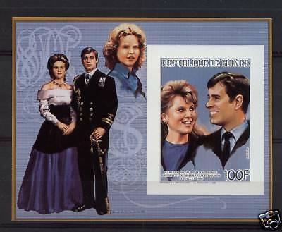 Guinea 1986 Royal Wedding MNH Imperf M/S