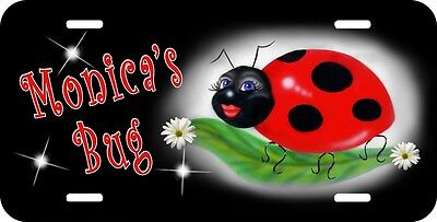 Ladybug Sweetie Auto License Plate Tag Personalized