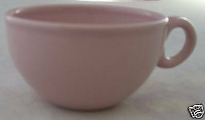 Russel Wright American Modern Pink Coffee Cup Cups 4 Retro Steubenville