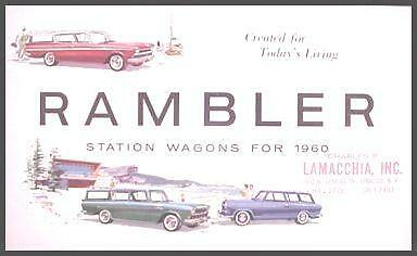1960 Rambler Station Wagon Brochure, Cross Country