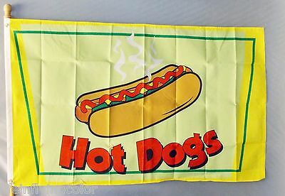 Hot Dogs Flag 3X5' Concession Fair Food New Hotdogs Cart 3X5' Message Flag