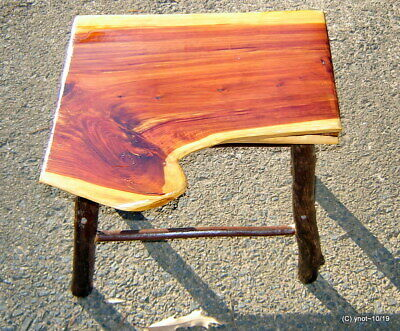 Handmade Rustic Log Furniture Cedar Hickory Table Stool Coffee