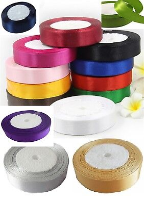 "15 ROLLS  SATIN RIBBON, 15 Different Colours, 225 YARDS 25 MM/1"" Cheapest Offer"