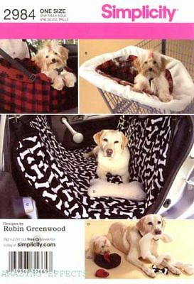 Simplicity Pattern 2984 Dogs car seat, Cover, Toys pets