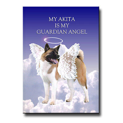 AKITA Guardian Angel FRIDGE MAGNET New DOG