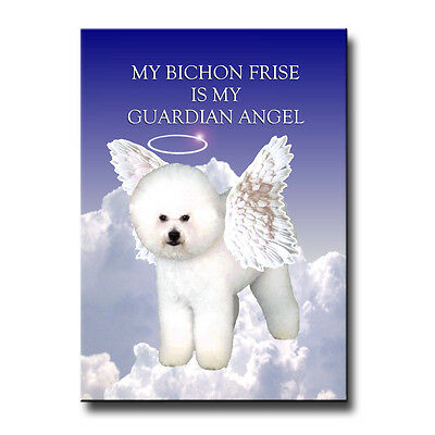 BICHON FRISE Guardian Angel FRIDGE MAGNET New DOG