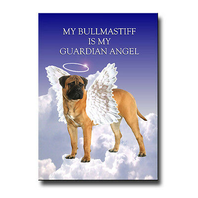 BULLMASTIFF Guardian Angel FRIDGE MAGNET No 1 DOG