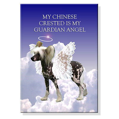 CHINESE CRESTED Guardian Angel FRIDGE MAGNET New DOG